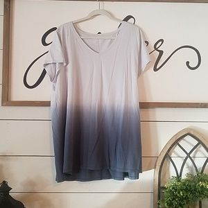 J. Jill dip dyed gray tee XL